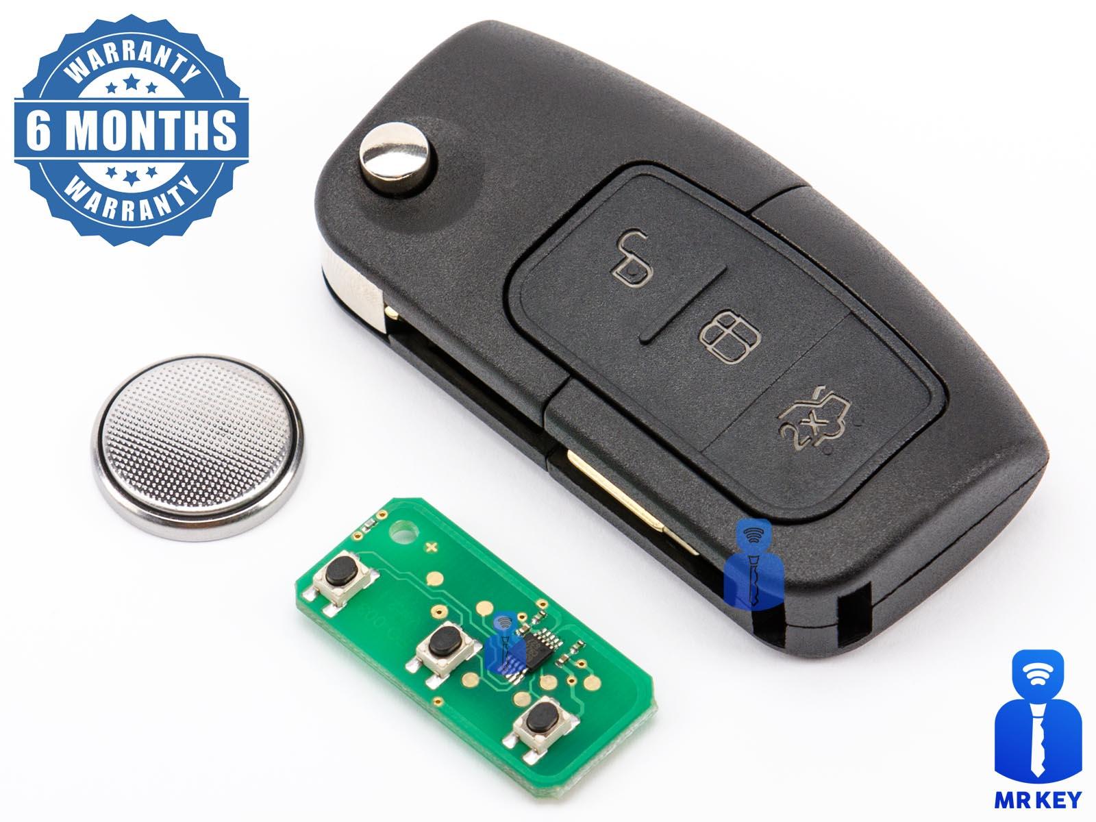 1Pc Remote Key 3 BTN 433MHz 315MHz Interchangeable Fit For Car Mondeo 2001-2007